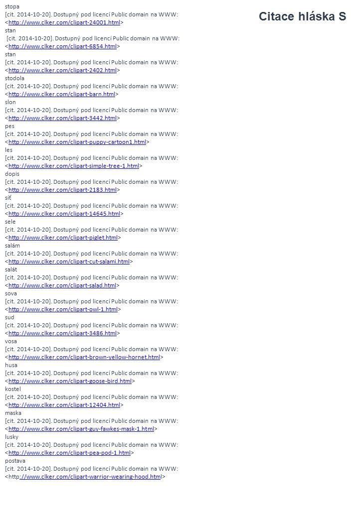 stopa [cit. 2014-10-20]. Dostupný pod licencí Public domain na WWW: <http://www.clker.com/clipart-24001.html>
